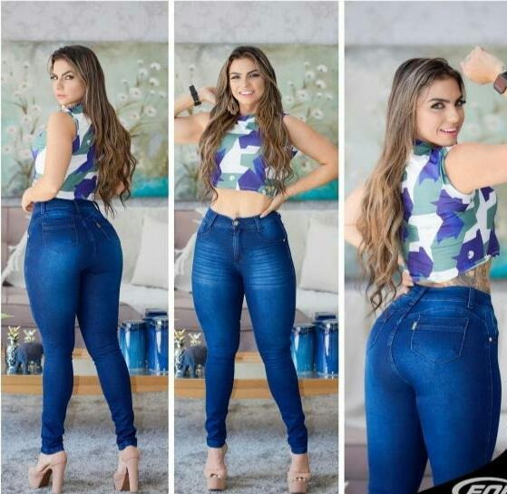 Calça Jeans Feminina Cintura Alta Com Lycra Barata!