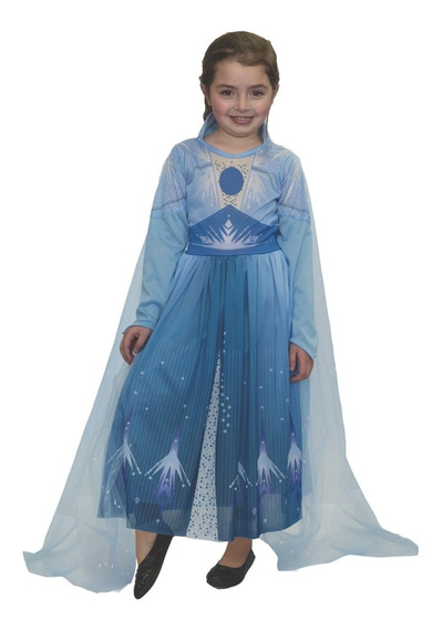 Disfraz Disney Frozen 2 Elsa Vestido Celeste Newtoys Manias