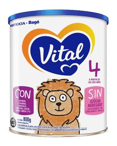 Leche De Fórmula En Polvo Nutricia Bagó Vital 4 En Lata De 8