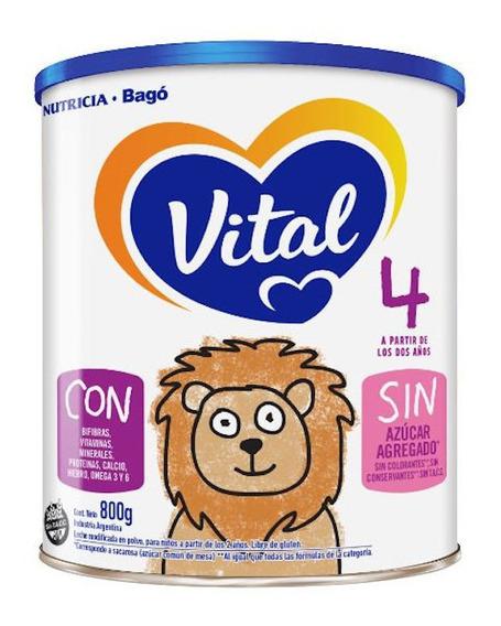 Leche de fórmula en polvo Nutricia Bagó Vital 4 en lata de 800g