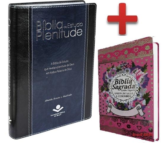 Bíblia De Estudo Plenitude + 1 Bíblia Letra Gigante Cpp
