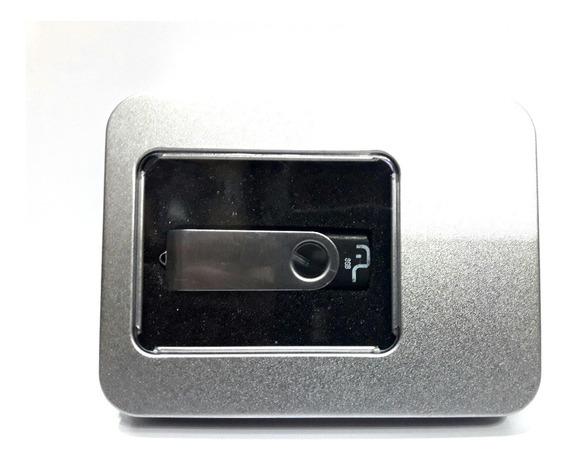 10 Porta Case Box Caixa Para Pendrive Alumínio Caixinha