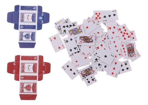 Imagen 1 de 8 de 1/6 Miniatura Deck Completo De Juegos De Naipes De Póquer