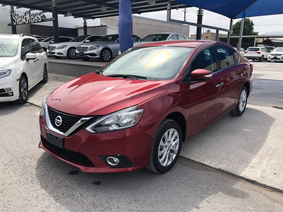 Nissan Sentra Advance Cvt 2017 Rojo Burdeos