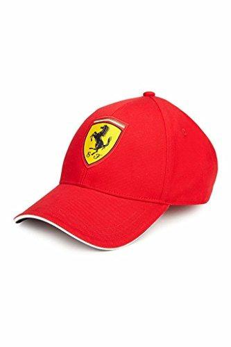 Sombrero Ajustable Rojo Clásico Ferrari Con Emblema Scudetto