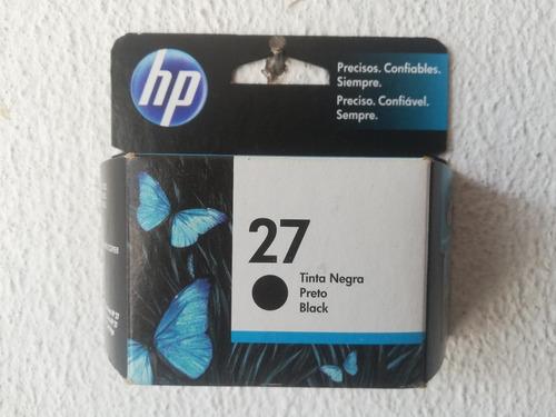 Imagen 1 de 1 de Cartucho Hp 27 Caja Negra, Sellado De Fábrica