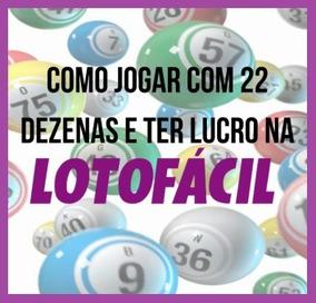 Planilha Lotofácil - 115 Jogos Com 22 Dezenas