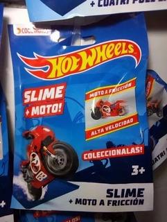 X10 Hot Wheels Moto+slime.modelo A Fricción,colores Surtidos