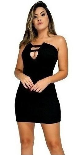 Imagem 1 de 4 de Vestido Tomara Que Caia Midi Lançamento. Ref: 681
