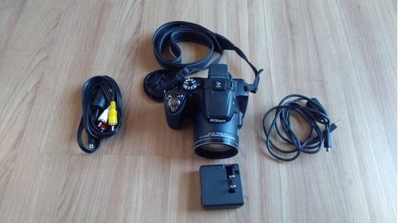 Câmera Nikon Coolpix P510 + Cartão De Memória 32gb + Bolsa