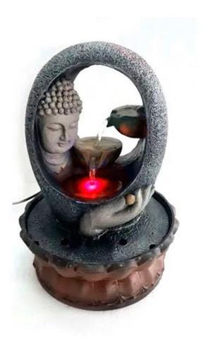 Fuente De Agua Buda Con Luz Led 21cm X 30 Cm Oferta