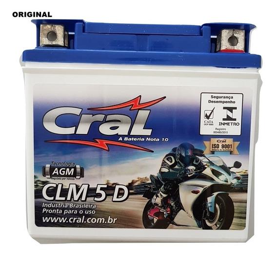 Bateria Cg 125 Fan 125 Cral Moto 5ah Clm5d Ytx5l-bs