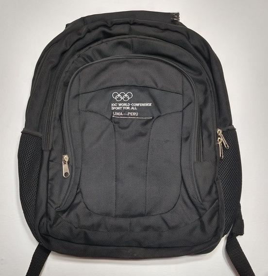 Mochila Juegos Olímpicos Lima Perú Negra