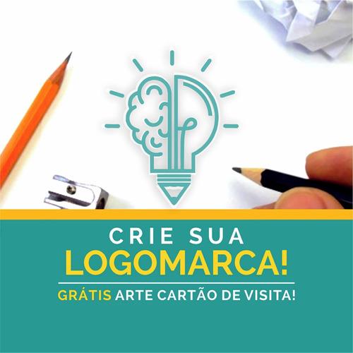 Imagem 1 de 5 de Logomarca Logotipo Criação De Marca Criar Logo 24h