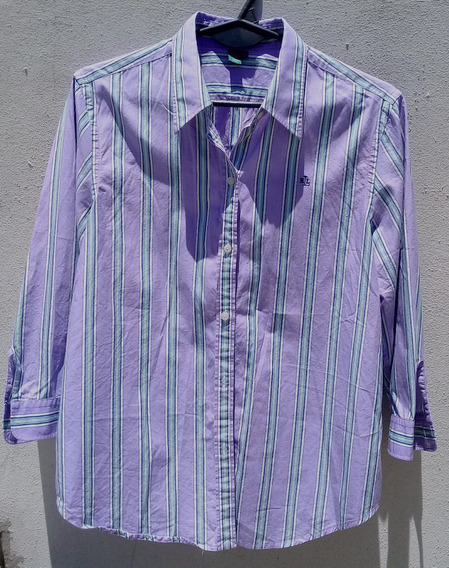 Camisa Ralph Lauren Mujer 100% Algodón Mangas 3/4 Impecable
