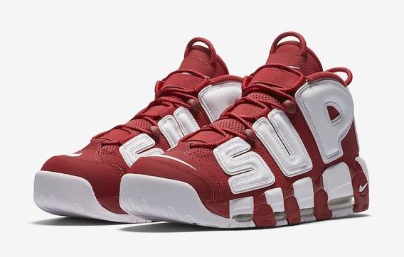 Tênis Nike Air More Uptempo Supreme Red Original Na Caixa