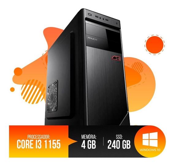 Desktop Pc I3 1155 4gb Ram, Hd Ssd 240gb, Super Oferta!