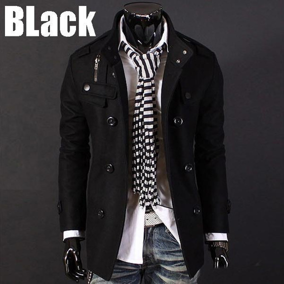 Casaco Blazer Jaqueta Lã Sobretudo Masculino Importado