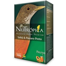 Ração Nutrópica Para Sabiá E Pássaro Preto - 300g