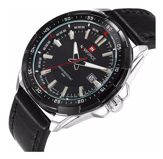 Relógio Masculino Militar Esportivo Naviforce Caixa Original