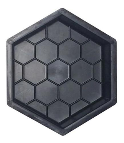 Forma Sextavada Bloquete De Cimento Para Calçada 08 Peças