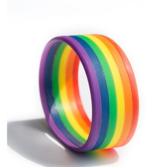 Pulsera Silicon Bandera Orgullo Gay Arcoiris Homosex Lgbt