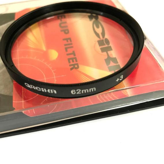 Filtro Close Up 62mm +3 Para Fotografia Macro
