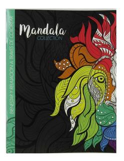 Libro Para Colorear Mandalas Relajacion Niños 4 Diseños
