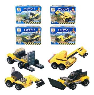 Juego De Bloques P/ Armar Autos Caja A Elección Simil Lego