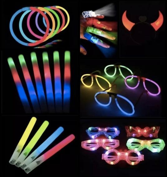 Combo Cotillon Luminoso Led Neon 150 Personas Cotillon 15 F
