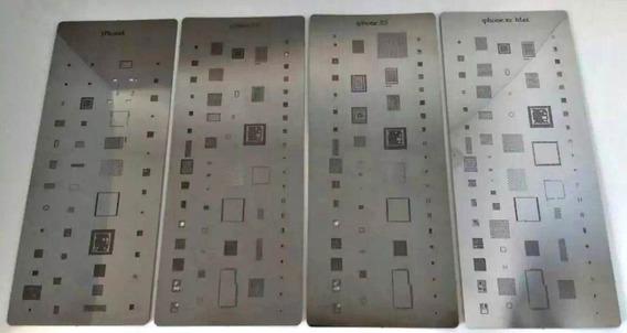 Kit Stencil Bga Reballin Para iPhone Linha X 4 Peças