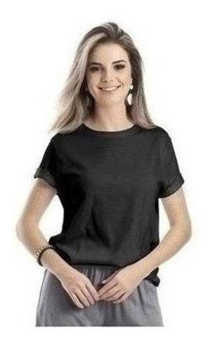 Blusa Feminina Básica Em Malha De Algodão Folha Hering