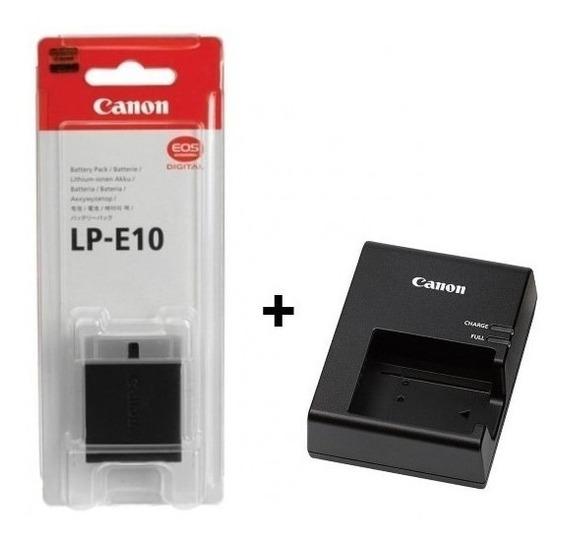 Bateria Lp - E10 + Carregador P/ Câmeras Canon T3 T5 T6