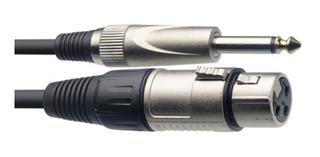 Cable Stagg Xlr (cannon) Plug Profesional 3 Metros Microfono