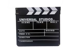 Claquete Madeira Universal Studios Decoração Pronta Entrega