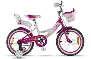 Bicicleta Aurora Princesa Rodado 16 Nena Envio Gratis
