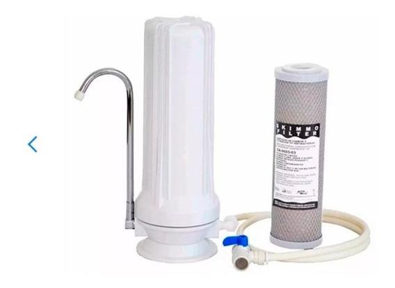 Purificador Agua Filtro Sobre Mesada Aprobado Aquatank Elega