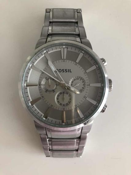 Relógio Fóssil Pulseira De Aco