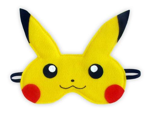 Máscara Para Dormir Tapa Olho Pikachu Pokemon (antialérgica)