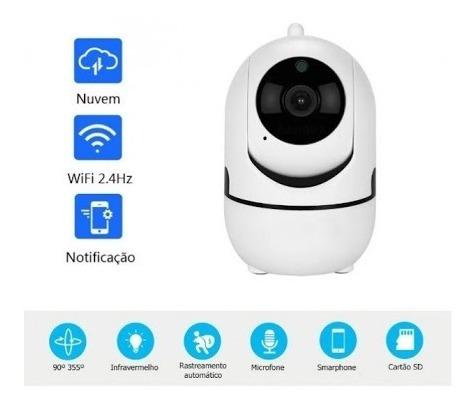 Imagem 1 de 10 de Câmera Inteligente Wifi 1 Mega Pixel Inova Cam-5703
