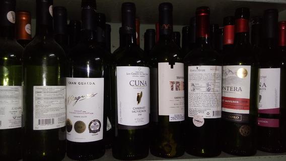 Lote De 10 Botellas De Vino Verdes - Vacias (b872)
