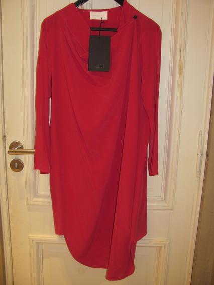 Vestido Mujer Trosman 100 % Seda Nuevo
