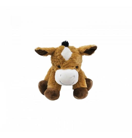 Cavalo Marrom Sentado 30cm - Pelúcia -fazendinha-cavalinho