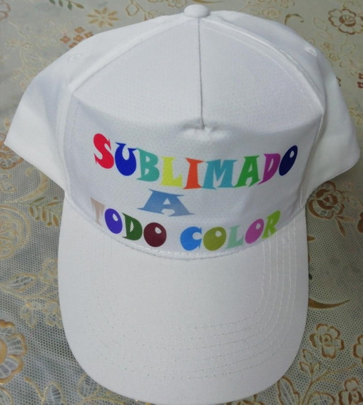 Gorras De Tela Con Cierre De Velcro. Sublimadas.