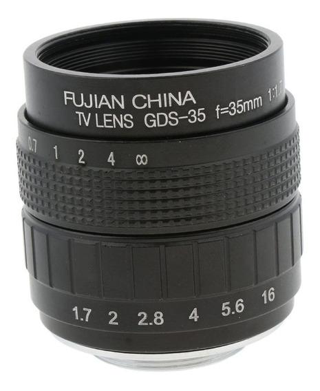 35mm F /1.7 Lente Fixo Primordial Grande Abertura Manual Par
