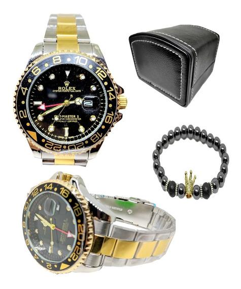 Relogio Masculino Submariner Rolex Caixa + Pulseira De Brinde