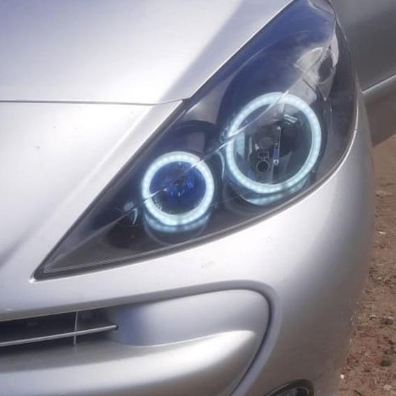 Kit 4 Angel Eyes Farol Peugeot 307 207 Ilumina De Dia Diurno
