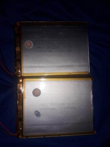 Imagen 1 de 2 de Batería Para Tablet China Dos Cables 3000mah