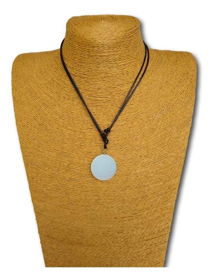 Colar Mandala De Pedra Da Lua Ref: 9884 Ajustável