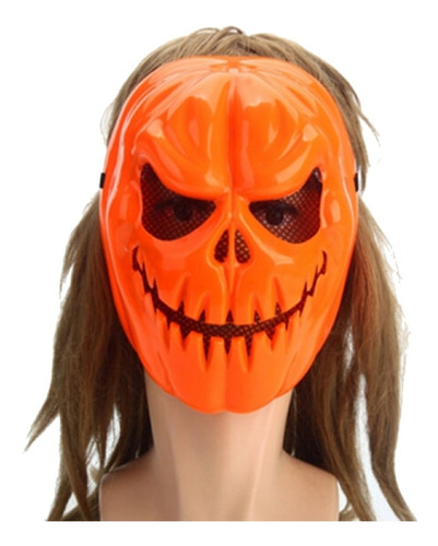 Mascara Calabaza Halloween Pvc Disfraz Terror Cosplay